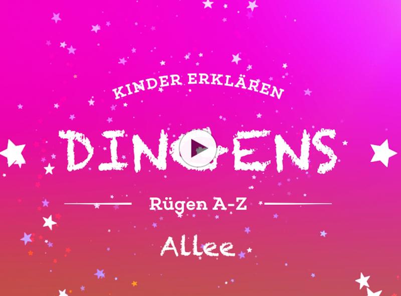 """""""Dingens – Rügen von A bis Z"""" :  A wie Allee"""