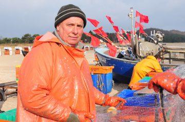 Fischer Roberto Brandt bei der Arbeit